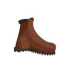 Hunting boots icon cartoon style vector