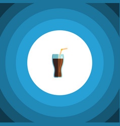Isolated cup flat icon fizzy drink element vector