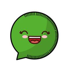 Kawaii speech bubble icon vector