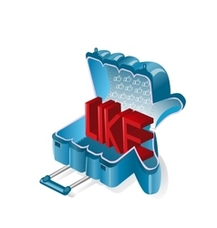 Like in the form of a suitcase for travel vector image