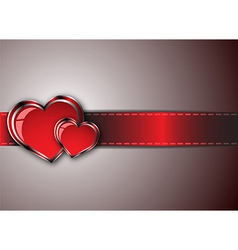 Love-business card vector image vector image