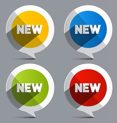 New Circle Labels - Stickers vector image vector image