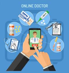 Online doctor concept vector