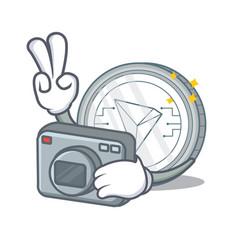 Photographer tron coin character cartoon vector