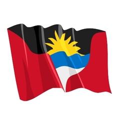Political waving flag of antigua and barbuda vector