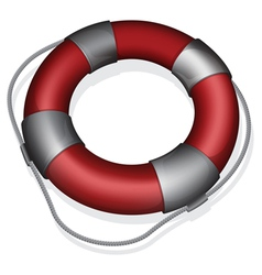 Red lifebuoy vector image