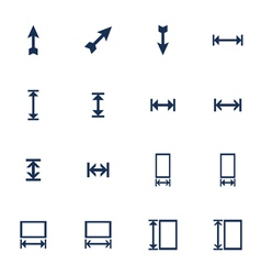 Resize icons vector image vector image
