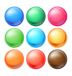 round spheres set set opaque multicolored vector image vector image
