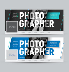 Set of banner in the style of material design for vector