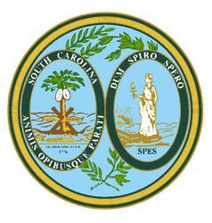 south carolina state seal vector image vector image