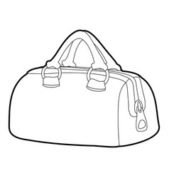 Sports bag icon outline vector