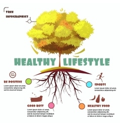 Tree with root infographic vector