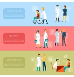 Doctor banners and medical staff banner set vector
