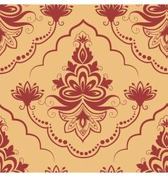damask floral pattern element vector image