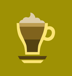 Flat icon on background cup coffee mocha vector