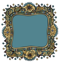 Fantasy decorative frame background vector
