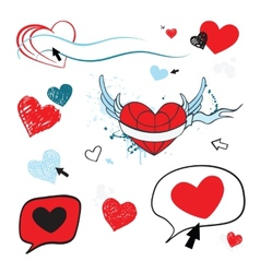 Hearts set Design element vector image