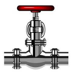 Industrial valve chrome red vector