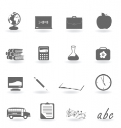 school icons vector image