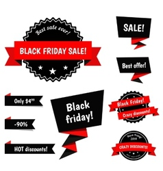 Black friday sale elements vector