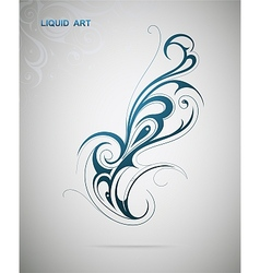 Liquid art design element vector