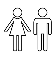 Male and female line icon vector