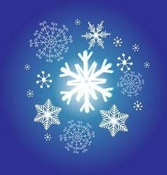 Snowflakes on a blue background new year vector