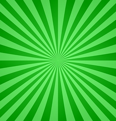 Green ray burst design background vector