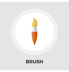 Paintbrush flat icon vector