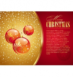 Christmas card with holidays toys vector