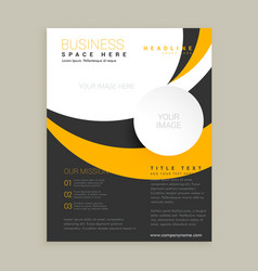 awesome yellow and black business brochure design vector image