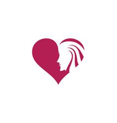 Beauty women face silhouette character logo vector