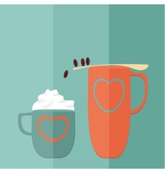 Coffee Game Flat vector image