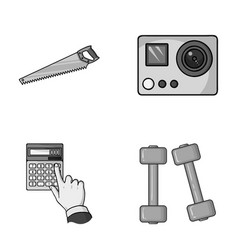 Construction finance and other monochrome icon in vector