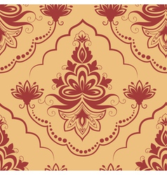 damask floral pattern element vector image vector image