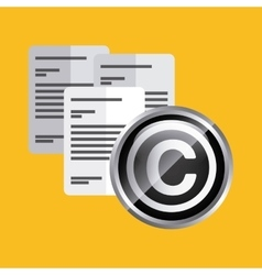 Document icon copyright design graphic vector