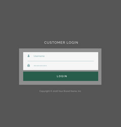 Gray login form ui design template vector