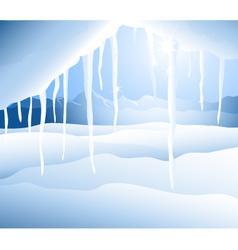 Iceberg and winter landcape vector