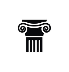 isolated ornate icon pedestal element can vector image