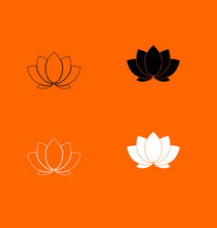 lotus icon vector image vector image