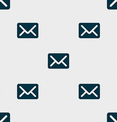 Mail envelope letter icon sign Seamless pattern vector image