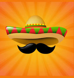 Mexico sombrero vector