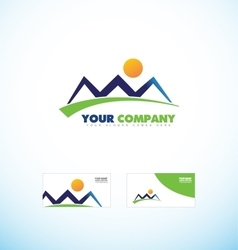 Mountain tourism agency logo icon shape vector image vector image