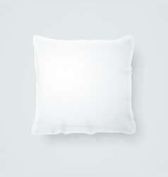 Realistic detailed 3d template blank white pillow vector