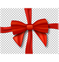 Red ribbon 3d isolated vector
