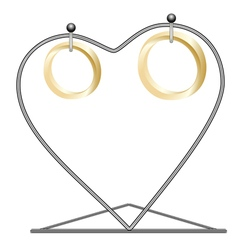 Rings on a rack vector image