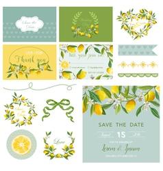 Scrapbook design elements wedding summer flower vector