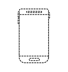 smartphone device icon in monochrome dotted vector image vector image
