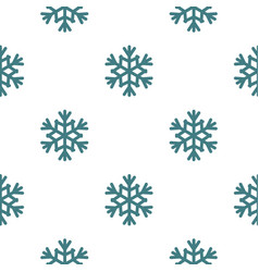 Snowflake pattern seamless vector