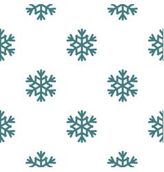 Snowflake pattern seamless vector